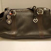 Brighton Handbag Black Pebble Leather With Brown