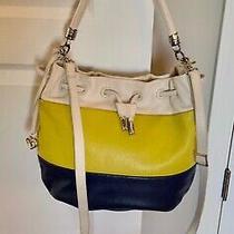 Brighton Handbag Purse Navy/yellow-Green/off-White Crossbody With Strap Photo