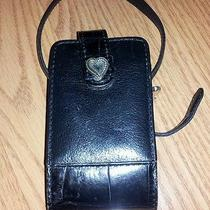Brighton Handbags Black Leather Cellphone Holder for Purse Belt or Wrist Photo