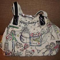 Brighton Happy Holidays Peace Hearts Canvas Purse Travel Shopping Bag  Photo