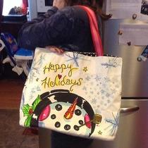 Brighton Happy Holidays Tote Bag With Canvas Double Strap Photo