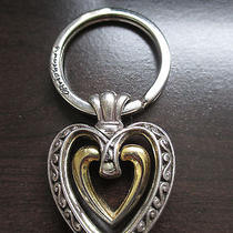 Brighton Heart Keychain Silver Gold Photo