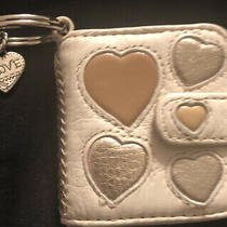 Brighton Hearts Galore Leather Photo Snap Shut Key Fob E15402 Msrp 45 Photo