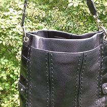 Brighton High End Hand-Stitched Large Shoulder Bag Woven & Croco Accents Guc Photo