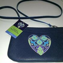 Brighton Hipster Purse Summer Heart Mini Bag Blue Crossbody -  Photo
