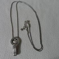 Brighton Id Badge Holder Lanyard Swarovski Crystal Heart Charm Necklace. Photo