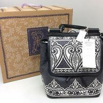 Brighton Jasmine Convertible Backpack Bag Black White One Size Purse Photo