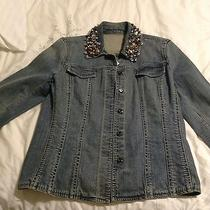 Brighton Jean Jacket With Bling Size 1 Heart  Photo