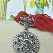 Brighton Jewelry Scarf  Ring Accessories Silver Stones Flower Necklace New Photo