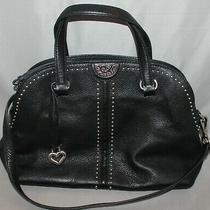 Brighton Jolene Domed Satchel in Black Leather Purse Shoulder Bag F677143 Photo