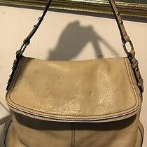 Brighton  Karine  Taupe Shoulder Bag Messenger Dual Flap Flowered Shoulder Bag  Photo