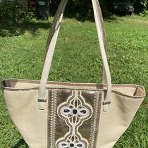 Brighton Kenza  Jeweled Beaded Canvas Leather Glam Satchel Handbag Purse  Photo