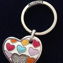 Brighton Key Fob/chain Nwot Colorful Hearts Silver Hearts. Photo