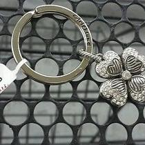 Brighton Key Fob Ring Chain Lucky Charm Clover Pendant Swarovski Crystals Nwt Photo