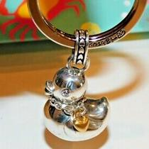 Brighton Key Ring Silver Tone Duck With Heart Collar Brand New in Box  Photo