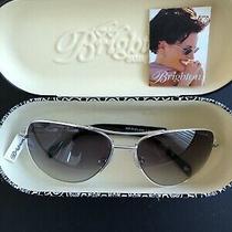Brighton Ladies Aviator Sunglasses Meridian Linx Silver and Black Photo
