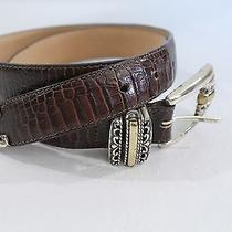 Brighton Ladies Brown Leather Belt as Is Photo