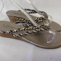 Brighton Lake Wedge Slide Sandal Worn Once 155 Women Size 7 Photo