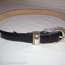 Brighton Leather Belt 30 M Medium Black Croc Silver Plated B 2103 Photo