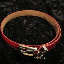 Brighton Leather Belt Red 31