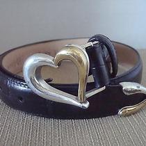 Brighton Leather Belt With Heart Buckel Photo