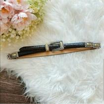Brighton Leather Belts Womens Brown Black Sz M Two-Toned Hardware Vintage Photo