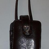 Brighton Leather Brown Cell Phone Holder Wristlet Purse Photo