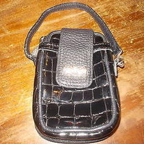 Brighton Leather Cher Cell Phone Case Wallet Wristlet in Black Photo