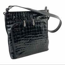 Brighton Leather Croc Embossed Shoulder Bag Photo