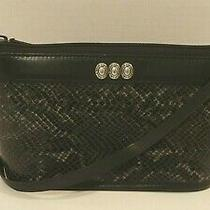 Brighton Leather Embossed Snake Print Cross Body Shoulder Bag Photo