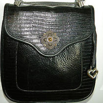 Brighton Leather Handbag Crossbody Black Leather Shoulder  Photo