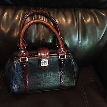 Brighton Leather Handbag in Brown and Black Leather Photo