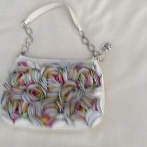 Brighton Leather Handbag With Multi Color Leather Rosettes Photo