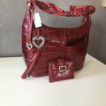 Brighton Leather Mary Purse and Wallet Beautiful Red New Photo