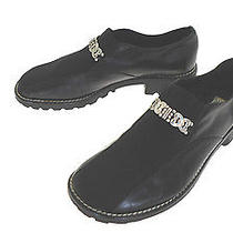 Brighton Leather/microfiber Uppers Slip-on Loafers With Silvertone Ornament 8m Photo