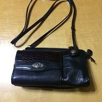 Brighton Leather Shoulder Organizer With Cell Phone Pouch Photo
