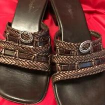 Brighton Leather Slip on Sandal Shoes Size 8.5 M Euc Photo