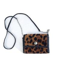 Brighton Leopard Calf Hair Wallet Organizer Chic Fashion Art Crossbody Photo
