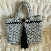 Brighton Like Knotted Grey Purse 11 Wide by 8.5 Inches Tall Cute Photo