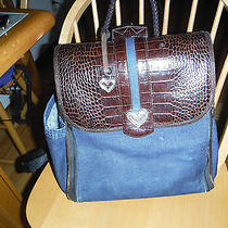 Brighton Limited Edition Demim/leather Backpack Diaper Baggreat Buy Photo