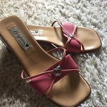Brighton Loreta Made in Italy Pink Slides Mules Sandals Womens Shoes Sz 8 Photo