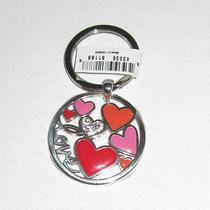 Brighton Lotta Love Silver Plated Key Fob Chain Ring E15120- Nwt Photo
