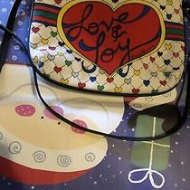 Brighton Love and Joy Canvas Tote Purse Bag Travel Weekend Shopping Photo