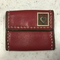 Brighton Love Stamp Red Leather Bifold Small Wallet Photo