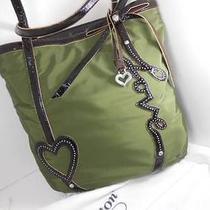 Brighton Love Tote/microfiber Handbag/purse   Olive  Nwt 200 Photo