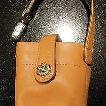 Brighton  Lt. Brown Smooth Leather Multi-Function/cell Holder.  New Photo