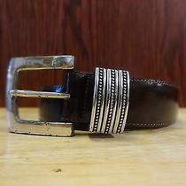 Brighton Made in Usa Brown Leather Belt Photo