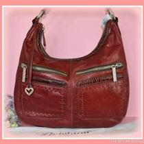 Brighton Marcia Red Convertable Hobo Handbag Braidy Collection Nwt 350 Photo