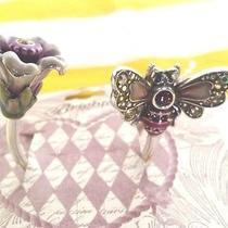 Brighton Marvels Bumble Bee Flower Key Fob 40. Swarovski Crystals Nwt. List 40 Photo
