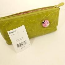 Brighton Marvels  Cosmetic Case  Green/palm  With Ladybug  New With Tag 65 Photo
